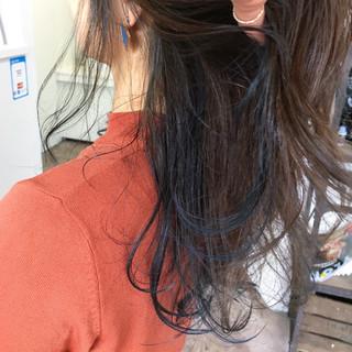 ストリート セミロング インナーカラー ヘアスタイルや髪型の写真・画像