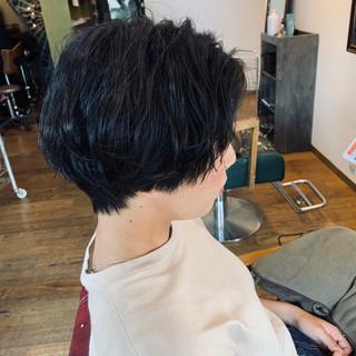 ショートヘア ナチュラル ショートアレンジ ショート ヘアスタイルや髪型の写真・画像