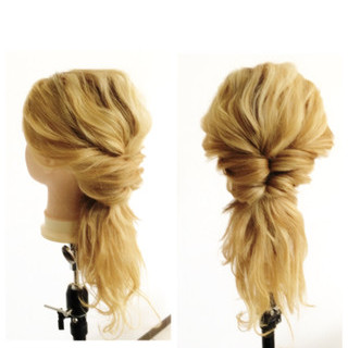くせ毛風 モテ髪 大人かわいい ヘアアレンジ ヘアスタイルや髪型の写真・画像
