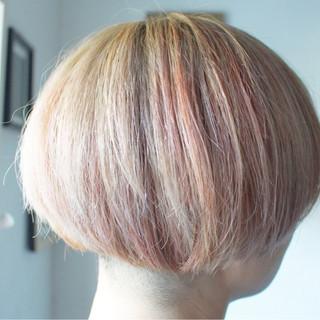 パープル ラベンダーアッシュ ピンク アッシュバイオレット ヘアスタイルや髪型の写真・画像