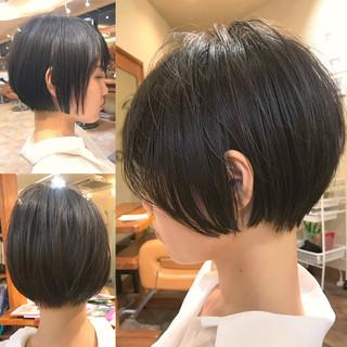簡単スタイリング ナチュラル デート ショート ヘアスタイルや髪型の写真・画像