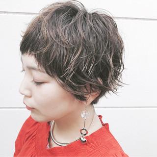 ナチュラル ショート ヘアアレンジ ヘアスタイルや髪型の写真・画像