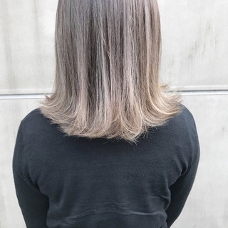 前髪あり ボブ フェミニン グラデーションカラー ヘアスタイルや髪型の写真・画像