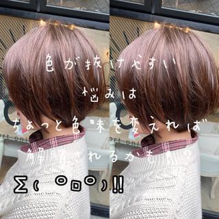 アンニュイほつれヘア ショートヘア ゆるふわ ショート ヘアスタイルや髪型の写真・画像
