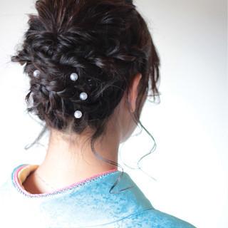 ミディアム 簡単ヘアアレンジ ヘアアレンジ くるりんぱ ヘアスタイルや髪型の写真・画像 ヘアスタイルや髪型の写真・画像