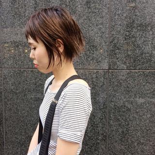 ショート ハイライト ショートボブ 外国人風 ヘアスタイルや髪型の写真・画像 ヘアスタイルや髪型の写真・画像