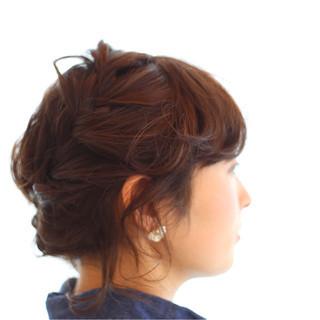 ナチュラル 大人女子 編み込み ショート ヘアスタイルや髪型の写真・画像