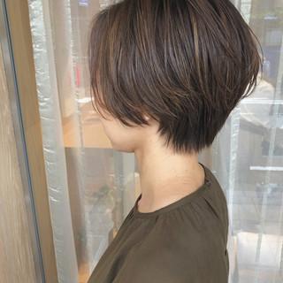 ショートボブ ショート ショートヘア ハンサムショート ヘアスタイルや髪型の写真・画像