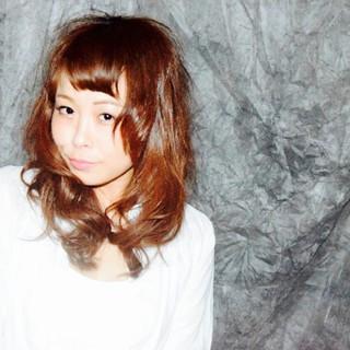 フェミニン ストリート モテ髪 セミロング ヘアスタイルや髪型の写真・画像