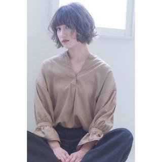 グラデーションカラー ショート ハイライト 外国人風 ヘアスタイルや髪型の写真・画像