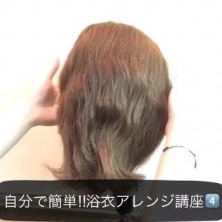 ヘアアレンジ ミディアム ショート 簡単ヘアアレンジ ヘアスタイルや髪型の写真・画像 ヘアスタイルや髪型の写真・画像