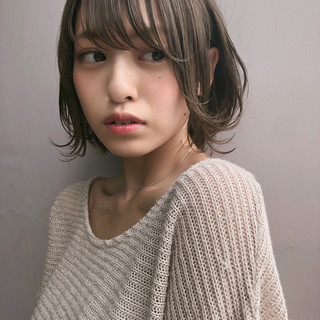 ボブ 女子力 大人女子 透明感 ヘアスタイルや髪型の写真・画像