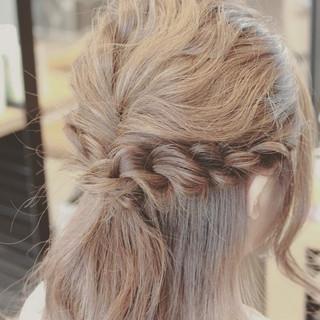 簡単ヘアアレンジ ヘアアレンジ 大人女子 ハーフアップ ヘアスタイルや髪型の写真・画像 ヘアスタイルや髪型の写真・画像