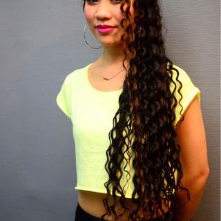パーマ スパイラルパーマ 暗髪 ロング ヘアスタイルや髪型の写真・画像 ヘアスタイルや髪型の写真・画像