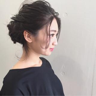 外国人風 ショート 簡単ヘアアレンジ ロング ヘアスタイルや髪型の写真・画像