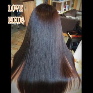暗髪 艶髪 ナチュラル ロング ヘアスタイルや髪型の写真・画像
