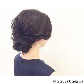 セミロング ヘアアレンジ ゆるふわ 外国人風 ヘアスタイルや髪型の写真・画像
