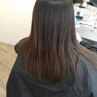 ロング 縮毛矯正名古屋市 ストカール 艶髪 ヘアスタイルや髪型の写真・画像