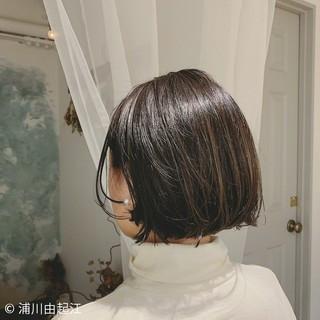 大人かわいい デート ハイライト ボブ ヘアスタイルや髪型の写真・画像