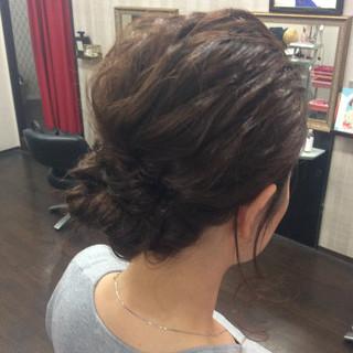 結婚式 簡単ヘアアレンジ セミロング ヘアアレンジ ヘアスタイルや髪型の写真・画像