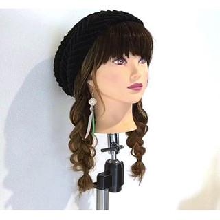 簡単ヘアアレンジ フェミニン ヘアアレンジ ニット ヘアスタイルや髪型の写真・画像