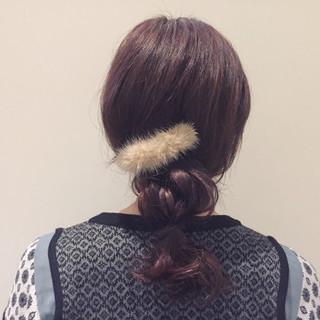 ショート 簡単ヘアアレンジ ヘアアレンジ 三つ編み ヘアスタイルや髪型の写真・画像