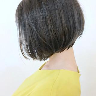 オリーブアッシュ 大人かわいい 大人グラボブ ボブ ヘアスタイルや髪型の写真・画像