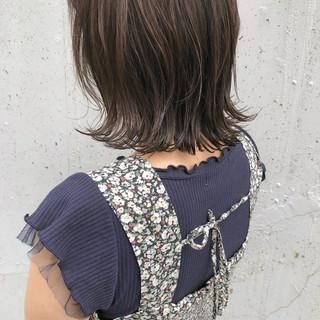 女子力 アッシュベージュ ボブ 透明感 ヘアスタイルや髪型の写真・画像