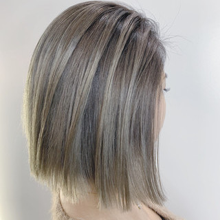 ベージュ バレイヤージュ ストリート ハイトーンカラー ヘアスタイルや髪型の写真・画像