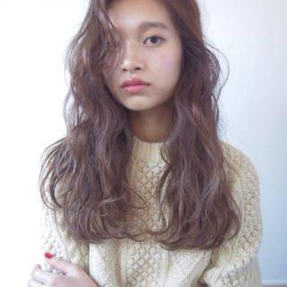 ナチュラル 外国人風 ロング 大人かわいい ヘアスタイルや髪型の写真・画像