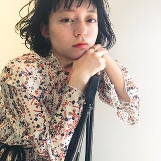 フェミニン ナチュラル ショートボブ 前髪あり ヘアスタイルや髪型の写真・画像