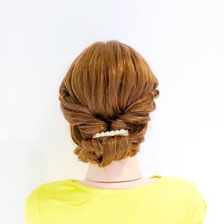 ヘアアレンジ くるりんぱ ロング 簡単ヘアアレンジ ヘアスタイルや髪型の写真・画像