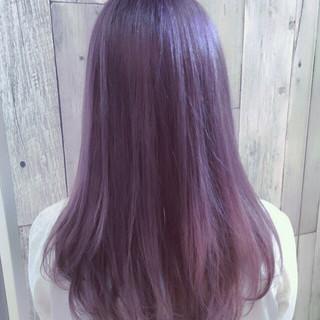 女子ウケ セミロング 透明感カラー 春色 ヘアスタイルや髪型の写真・画像