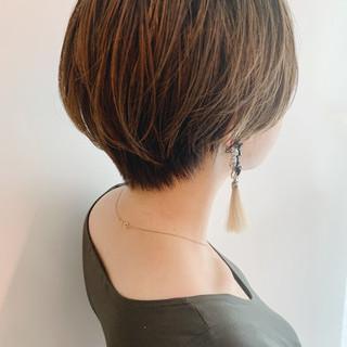 マッシュショート パーマ ナチュラル ハイライト ヘアスタイルや髪型の写真・画像