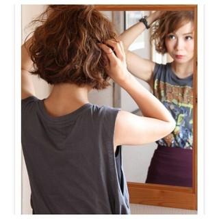 ストリート 大人かわいい 簡単 パーマ ヘアスタイルや髪型の写真・画像