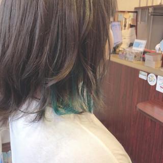 スポーツ インナーカラー ストリート ボブ ヘアスタイルや髪型の写真・画像