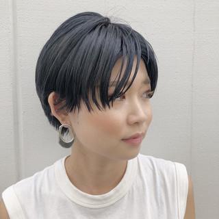 ショートボブ モード 抜け感 ストリート ヘアスタイルや髪型の写真・画像
