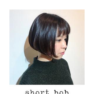 かわいい ボブヘアー ショートボブ ナチュラル ヘアスタイルや髪型の写真・画像 ヘアスタイルや髪型の写真・画像