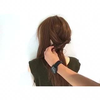 ロング 女子会 デート 涼しげ ヘアスタイルや髪型の写真・画像