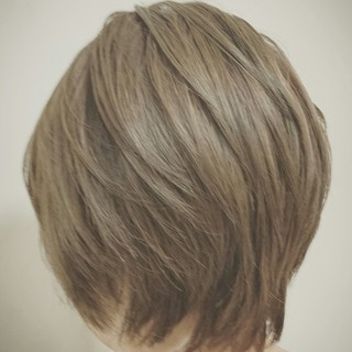 外国人風 ナチュラル ボブ アッシュ ヘアスタイルや髪型の写真・画像 ヘアスタイルや髪型の写真・画像