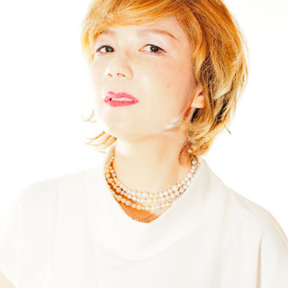 ミルクティー ウルフカット マッシュ パーマ ヘアスタイルや髪型の写真・画像
