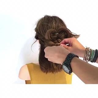 ヘアアレンジ デート 涼しげ 簡単ヘアアレンジ ヘアスタイルや髪型の写真・画像
