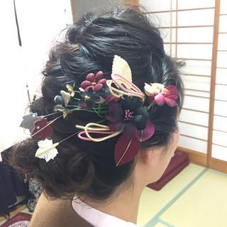 エレガント 和装 和装ヘア 成人式 ヘアスタイルや髪型の写真・画像