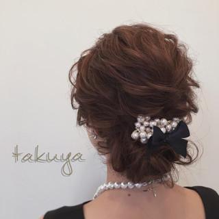ショート 簡単ヘアアレンジ ヘアアレンジ 結婚式 ヘアスタイルや髪型の写真・画像