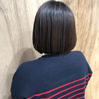 アンニュイほつれヘア ナチュラル ミニボブ ショートボブ ヘアスタイルや髪型の写真・画像