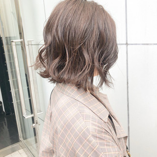 簡単ヘアアレンジ ボブ デート パーマ ヘアスタイルや髪型の写真・画像