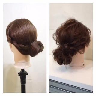 簡単 簡単ヘアアレンジ ミディアム 編み込み ヘアスタイルや髪型の写真・画像