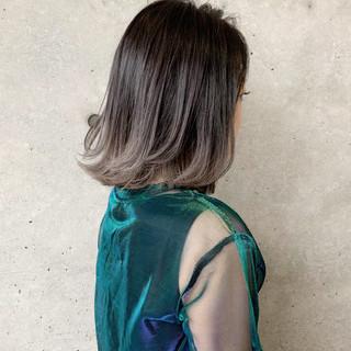 ボブ グレージュ ナチュラル 透明感カラー ヘアスタイルや髪型の写真・画像