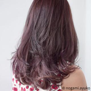 ラベンダー ロング グラデーションカラー ラベンダーピンク ヘアスタイルや髪型の写真・画像