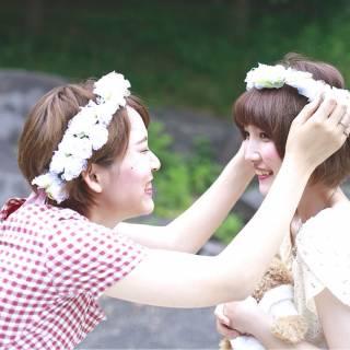 女の子はお花がお好き♡髪型別の花冠アレンジが知りたいんです!